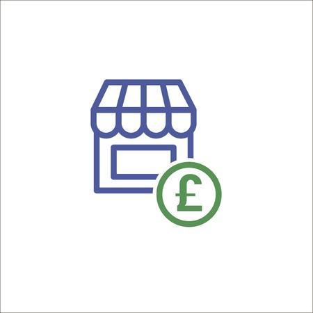 Store icon, shopping symbol Illustration