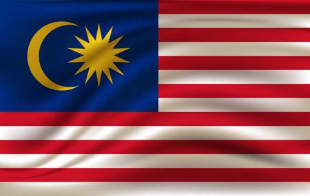 3D Waving Flag of Malaysia