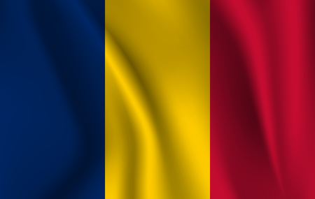 3D Waving Flag of Chad. EPS 10