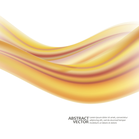 Abstract waves on a white background. Vector Illustration. EPS10 Vetores