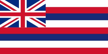 Vector image of Hawaii State flag. Ka Hae Hawaii. EPS10.