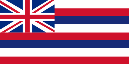 Vector image of Hawaii State flag. Ka Hae Hawaii. EPS10.
