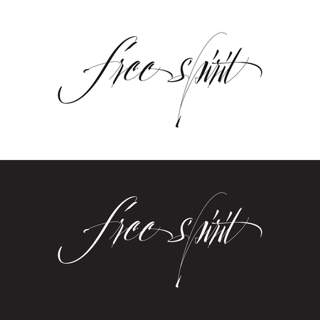 Free spirit card or poster. Hand drawn lettering. Modern brush calligraphy.