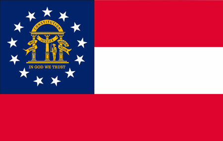Vector image of Georgia State flag. EPS10.