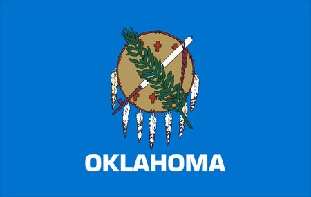 Flag of Oklahoma state of the United States.