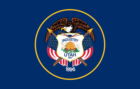 Flag of Utah state of the United States. Vector illustration. 10 EPS