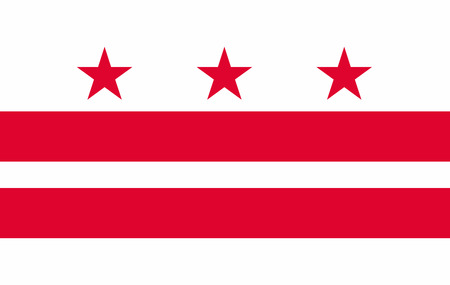 Flag of District of Columbia state of the United States. Vector illustration. 10 EPS