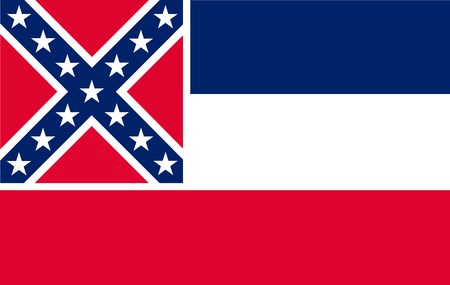 Flag of Mississipi state of the United States.