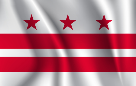 Waving flag of District of Columbia.