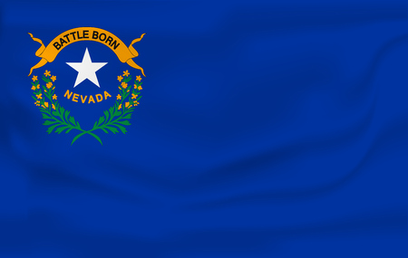 Waving Flag of NEVADA is a state of USA. Vector illustrationWaving Flag of NEVADA is a state of USA. Vector illustration