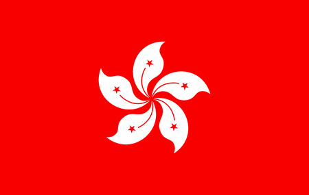Flag of Hongkong, officially the Hongkong is a country in South Asia. Vector illustration