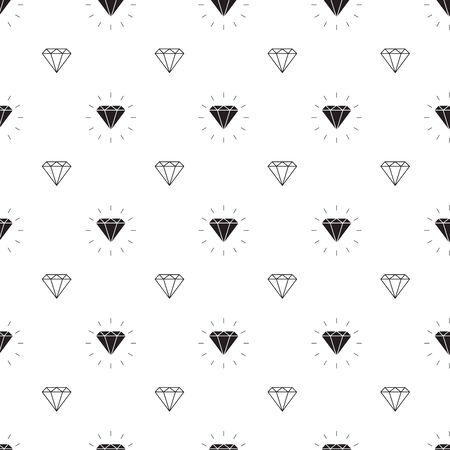 vector glamour fashion diamond seamless background.