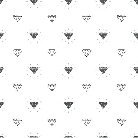 vector glamour fashion diamond seamless background. Illustration