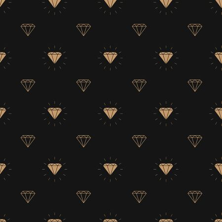 vector glamour fashion diamond seamless background. 10 eps Standard-Bild - 127330944