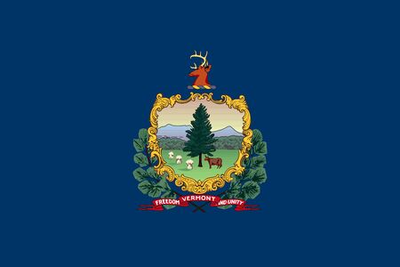 Flag of Vermont state of the United States. Vector illustration. 10 EPS