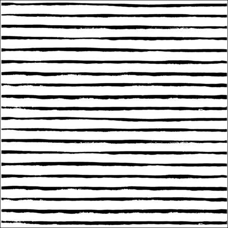 hand drawn horizontal stripes pattern background. 10 eps