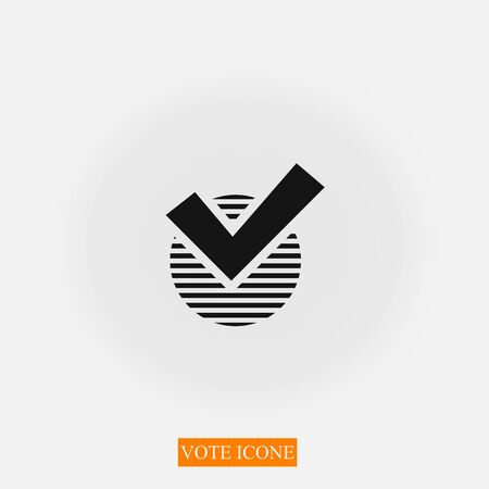 Check Box Icon, Vector Vote Yes Sign. 10 EPS