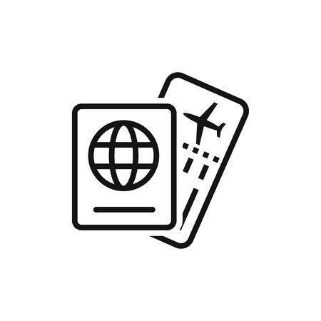 Ticket and Passport. Vector icon Illusztráció