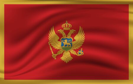 Montenegro flag waving in the wind. 10 eps