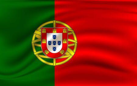 Waving flag of Portugal..