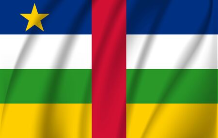 3D Waving Flag of Central African Republic. EPS 10