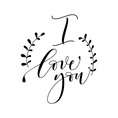 i love you hand lettering - handmade calligraphy