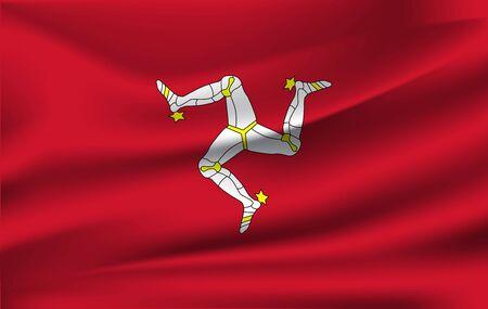 Flag of the Isle of Man. 10 eps
