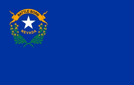 Flag of NEVADA state of the United States. illustration. Standard-Bild