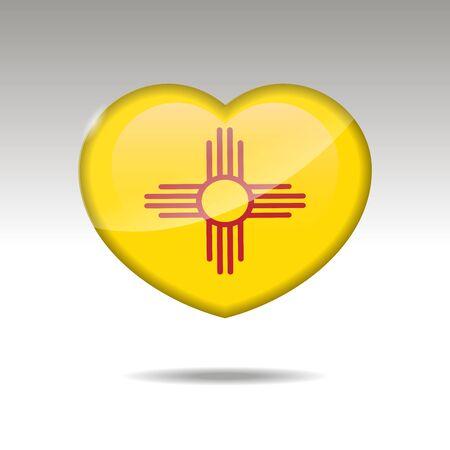 Love ALASKA state symbol. Heart flag icon. illustration.