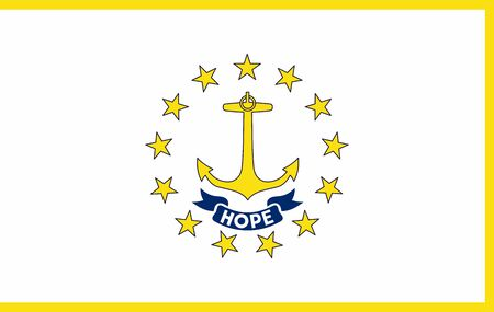 Flag of Rhode Island state of the United States. illustration.