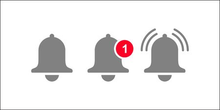 Notification bell icon for incoming inbox message.