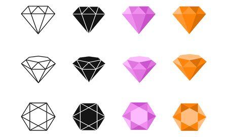 Vector Diamond Colorful Icons Illustration