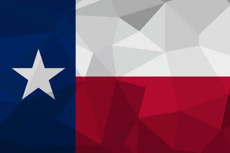 Texas flag map in geometric,mosaic polygonal style.Abstract tessellation,background. Low poly vector illustration EPS10