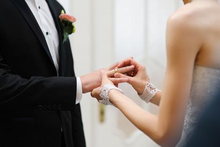 esküvő: változó gyűrűk Stock fotó