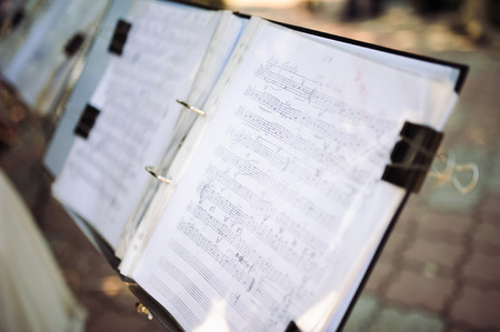 distorted image: music notes Stock Photo