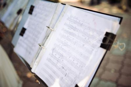sonata: music notes Stock Photo