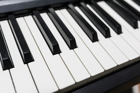 piano closeup: Piano close-up Stock Photo