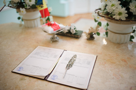 wedding contract at registry office