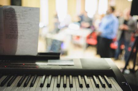 piano closeup: Piano close-up at live concert indoor