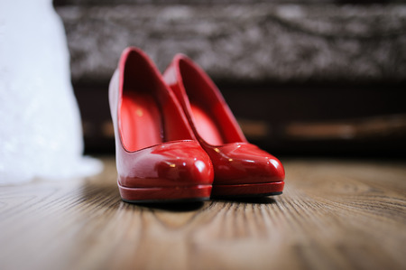 prom: wedding red shoes is ready for brides best day