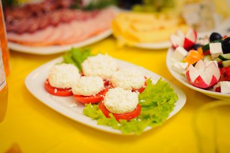 nice looking: nice looking and tasty food on wedding reception