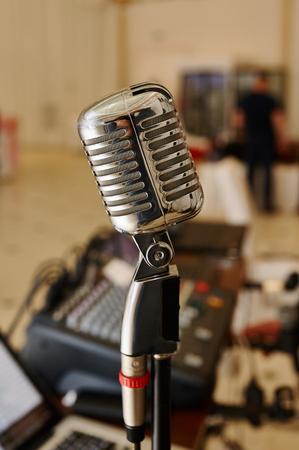 radio station: Vocal Microphone Radio Station