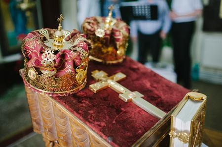orthodox: wedding orthodox or christening baptism Stock Photo