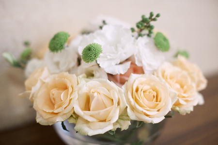 Wedding decor bouquet of flowers. Wedding decoration idea. Stock Photo