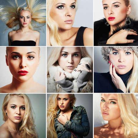 beauty model: Group of beautiful young blond women
