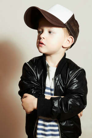 handsome boy: Fashionable Child.stylish little.fashion children.Hip-Hop style