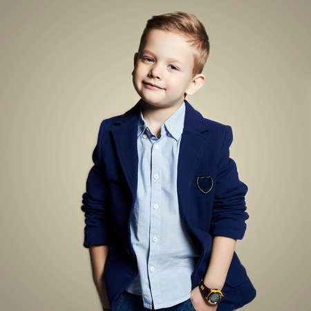 fashionable little boy.stylish child in suit. fashion children.business kids Banco de Imagens - 49030416