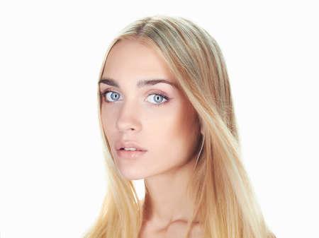 beautiful young woman with long hair.Blonde girl 免版税图像 - 50408829