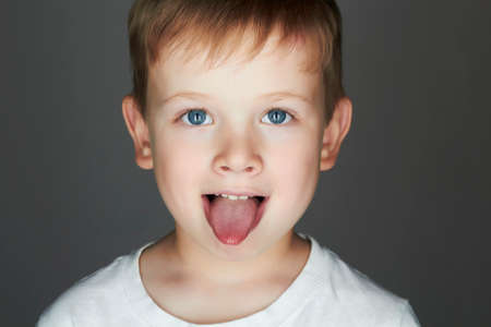 child. funny little boy. joy. 5 years old.kids emotion Reklamní fotografie