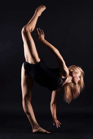 beautiful dancing ballet girl.beauty young gymnast woman.ballerina